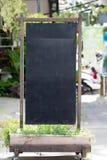 Blank old blackboard stand Stock Image