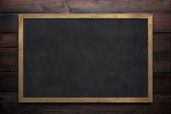 Blank old blackboard Stock Photo