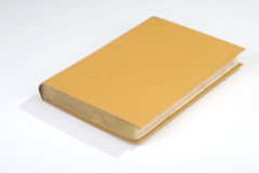 Blank old book cover yellow Royalty Free Stock Images