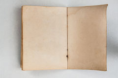 Blank of old book open back side. Blank of old thai passpert book open back side Royalty Free Stock Photography