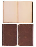 Blank, old book Stock Photos