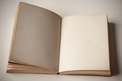 Blank old book open. Stock Photography