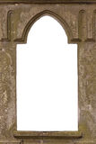 Blank old castle window. With blank customizable space royalty free stock images