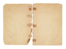 Blank, Old Facing Pages royalty free stock photos