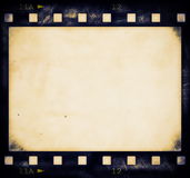 Blank old grunge film strip. Frame background Stock Photo