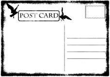 Blank old grunge postcard illustration Stock Photography
