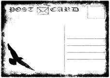 Blank old grunge postcard illustration Stock Image