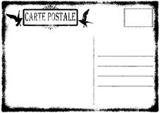 Blank old grunge postcard illustration Stock Images