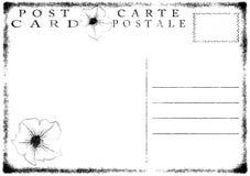 Blank old grunge postcard  illustration Royalty Free Stock Images