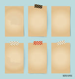 Blank old note papers, ready for your message. Vector illustrati. On Royalty Free Stock Photography
