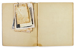 Free Blank Old Opened Diary With Photos Stock Images - 21773714