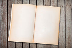 Blank old opened notebook Stock Photography