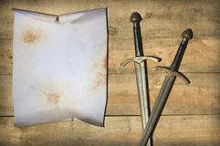 Blank old parchment Stock Photography