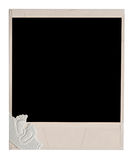 Blank old photo frame Stock Photography