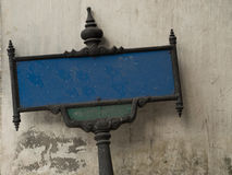 Blank old street sign Royalty Free Stock Images