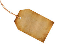Blank old tag Stock Images