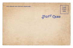 Blank old vintage postcard isolated Royalty Free Stock Images