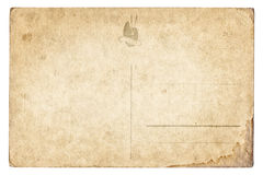 Blank old vintage postcard isolated Royalty Free Stock Photography
