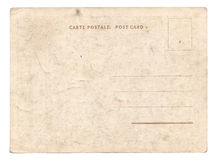 Blank old vintage postcard isolated Royalty Free Stock Photo
