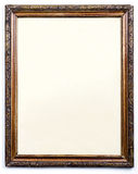 Blank old wooden picture frame Stock Image