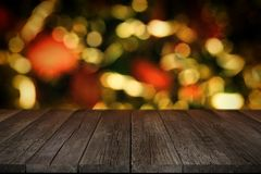 Blank Old Wooden Planks Christmas Background. royalty free illustration