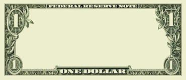 Blank One Dollar Bill Royalty Free Stock Photos