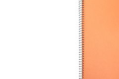 Blank one face white paper notebook Stock Image
