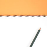 Blank one face white paper notebook Royalty Free Stock Photos