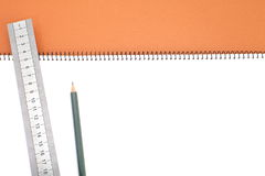 Blank one face white paper notebook Royalty Free Stock Photography