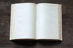Blank open book Stock Images