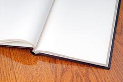 Blank open book Stock Photography