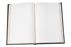 Blank open book. With white page with clipping path Royalty Free Stock Image