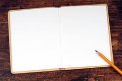 Blank open book Stock Photos