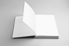 Blank open book royalty free illustration