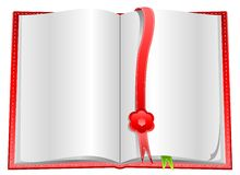 Blank open book with bookmarks Royalty Free Stock Photos