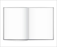 Blank of open book with cover on white background. Template Royalty Free Stock Photos