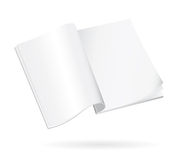 Blank open book isolated. Blank pages of an open book related to studies and learning Stock Images