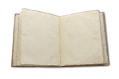 Blank open book isolated on white background Stock Image