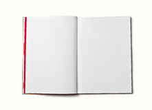 Blank open book isolated on white background. Front view. Royalty Free Stock Photography
