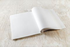 Blank open book Stock Photos