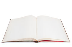 Blank open book on white background Royalty Free Stock Photos