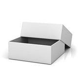 Blank open box with lid Stock Photos