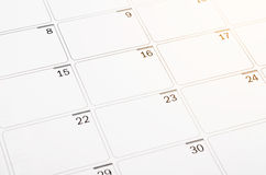 Blank open calendar page. Stock Photography