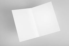 Blank open card Royalty Free Stock Image