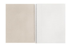 Blank open checked book Royalty Free Stock Photos