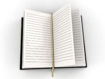 Blank open diary Stock Photos