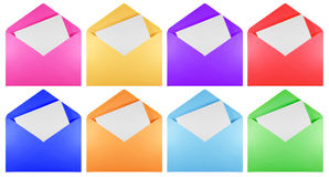 Blank open envelope - colorful Stock Photos