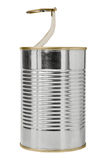 Blank open food tin Royalty Free Stock Images
