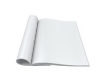 Blank Open Magazine Royalty Free Stock Photos