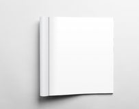Blank open magazine Stock Image